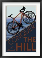 Framed Conquer The Hill Bicycle Ad