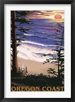 Framed Oregon Coast Sunset Ad
