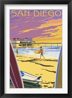 Framed San Diego Beach Ad