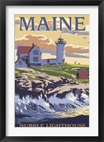 Framed Nubble Lighthouse Ad