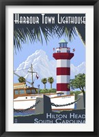 Framed Harbour Town Lighthouse