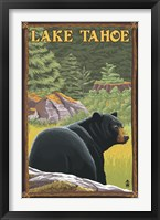 Framed Lake Tahoe Bear