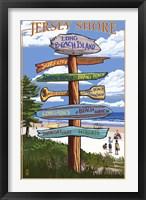 Framed Jersey Shore Beach Signs