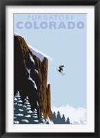 Framed Purgatory Colorado Ski Jump