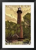 Framed Currituck Beach Lighthouse Carolina