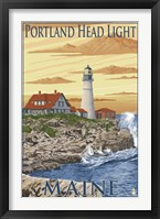 Framed Portland Head Light Maine
