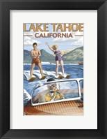 Framed Lake Tahoe California Water Ski