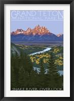 Framed Snake River Grand Teton Park