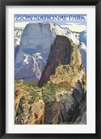 Framed Zion National Park Angels Landing