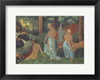 Framed Bathers With White Veils