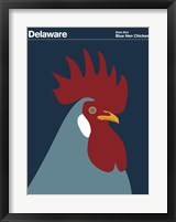 Framed Montague State Posters - Delaware