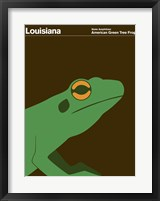 Framed Montague State Posters - Louisiana