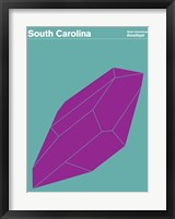 Framed Montague State Posters - South Carolina