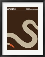 Framed Montague State Posters - Arizona