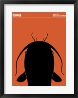 Framed Montague State Posters - Iowa