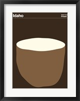Framed Montague State Posters - Idaho