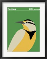 Framed Montague State Posters - Kansas