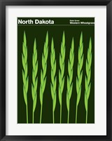 Framed Montague State Posters - North Dakota