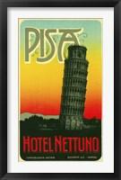 Framed Hoel Nettuno, Pisa Italy
