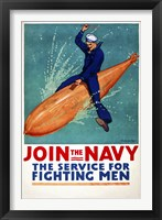 Framed Join the Navy, the Service for Fighting Men