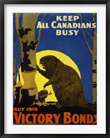 Framed Keep All Canadians Busy, 1918 Victory Bonds