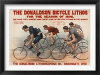 Framed Donaldson Bicycle Lithos for 1896 Season