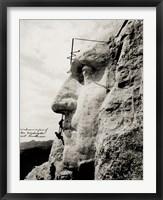 Framed Workmen on Face of George Washington