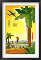 Framed La Palm Tree