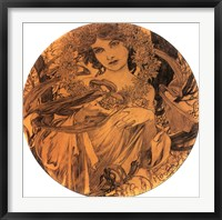 Summer Medallion Framed Print
