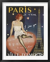 Paris I Love You Framed Print