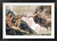 Framed Michelangelo, Creation of man