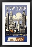 Framed NY Aer Lingus