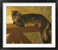 Framed Steinlen Cat