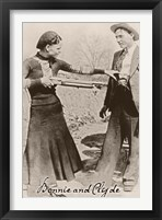 Bonnie And Clyde I Framed Print