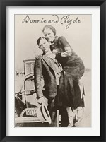 Bonnie And Clyde Ii Framed Print