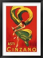 Framed Asti Cinzano