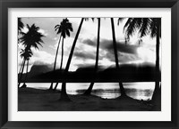 Framed Sunset at Raiatea, French Polynesia