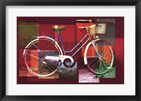 Framed Red Bicycle
