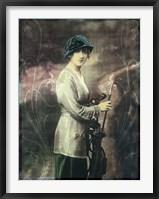 Framed Pretty Golf Girl