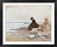Framed Painter At The Beach