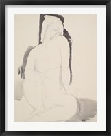 Framed Seated Nude