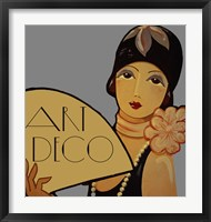 Framed Art Deco Flapper