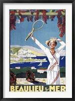 Framed Beaulieu Mer
