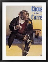 Framed Carre Circus Chimp