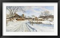 Framed Mid-January Farmscape
