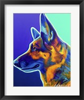 Framed German Shepherd Schatze