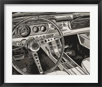 Framed Vintage Car Dashboard