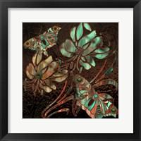 Framed Copper Butterflies