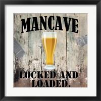 Mancave III Framed Print