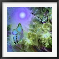 Framed Languid Journeys Blue